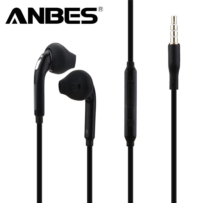 ANBES 3.5mm Stereo Music Headphones Portable Earphone Wired In-Ear Headset no bluetooth with Microphone for Xiaomi iPhone ditmo dm 4900 foldable wired 3 5mm plug stereo headset headphones w microphone for iphone 5 white