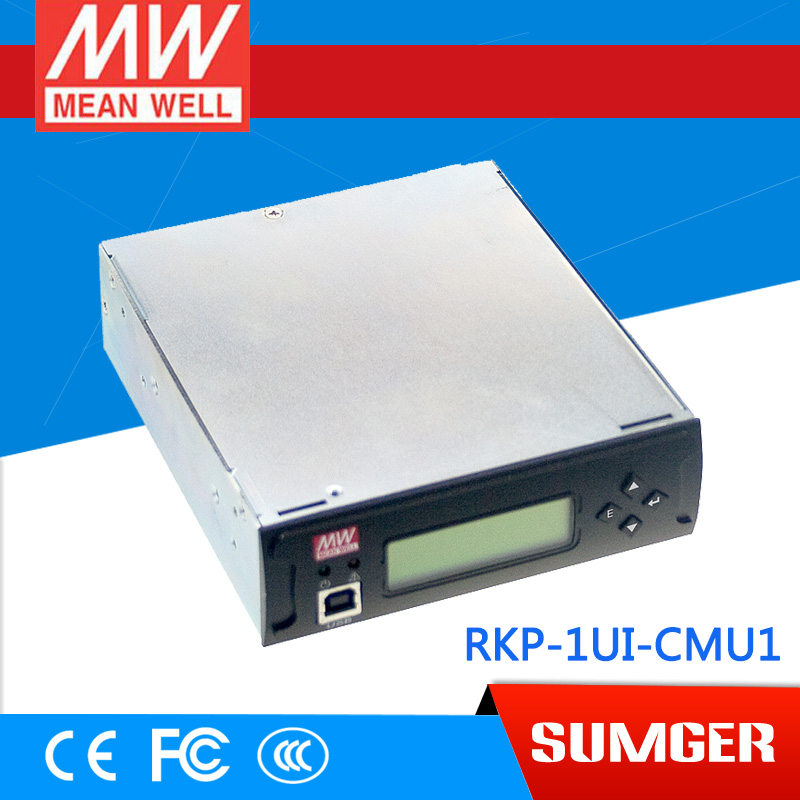 1MEAN WELL original RKP-1UI meanwell RKP-1UI 1U Rack Mountable Control and Monitor Unit [powernex] mean well original rkp 6k1ui cmu1 24 24v 240a meanwell rkp 6k1ui 24v 5760w front end power system ac inlet