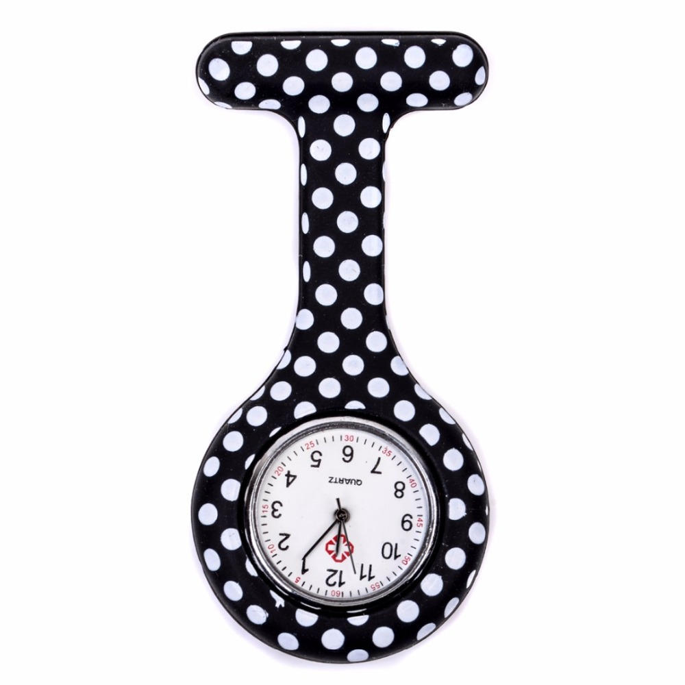 Fashion Colorful Silicone Medical Nurse Watches Portable Brooch Fob Pocket Quartz Watch Hanging Pendant with Clip Gift in Pocket Fob Watches from Watches