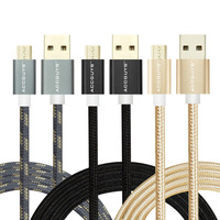 ACCGUYS High Quality Micro USB Cable Fast Charging Mobile Phone Cable 3 Pack Charger Cable Data