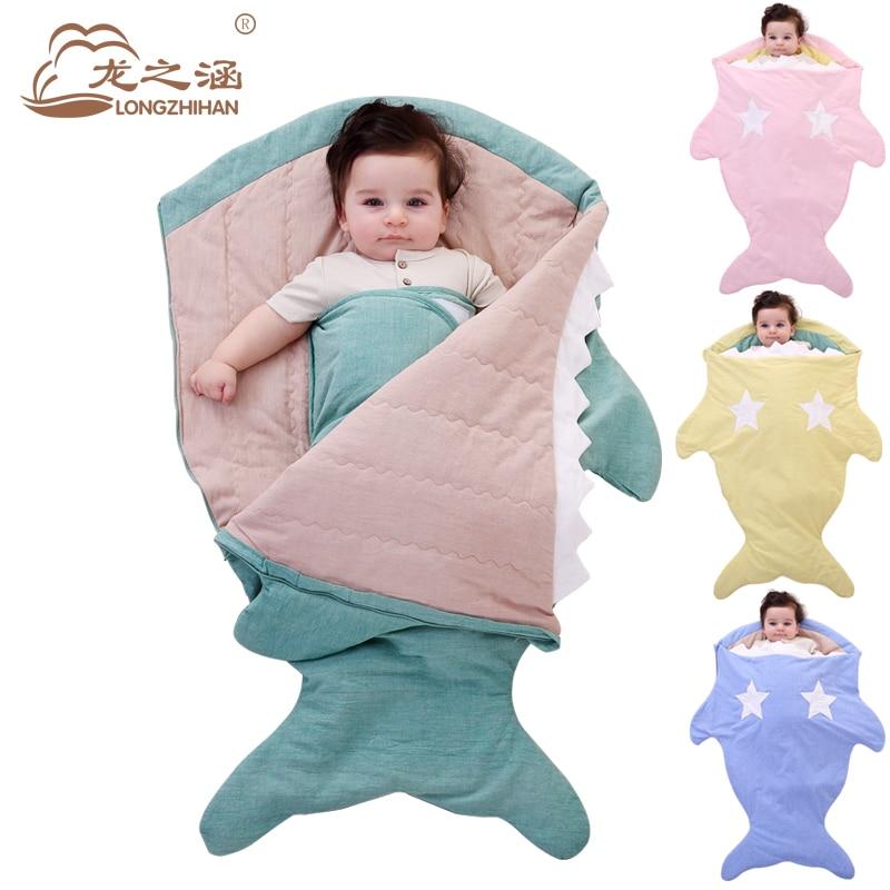 Shark Newborn Sleeping Bag Winter Cotton Baby Sleep Sack