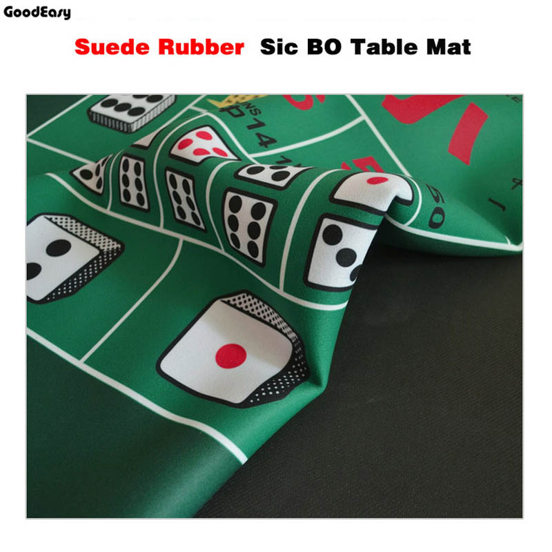 1.8*0.9m Green Rubber Texas Holdu0027em Poker Table Mat Poker Gaming Mat Table  Cloth Game Cloth Sic Bo With Chinese/English In Gambling Tables From Sports  ...
