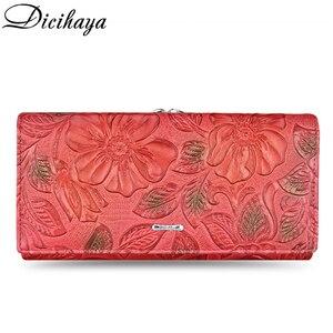 Image 2 - DICIHAYA Exclusive Design Leather Women Wallet Luxury Brand Design High Quality Women Purse Card Holder Long Clutch Phone Bag