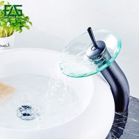 Torneira Pottery Wheel Bathroom Faucet Glass Bottle With Tap ORB Bathroom Sink Waterfall Faucet Basin Mixer