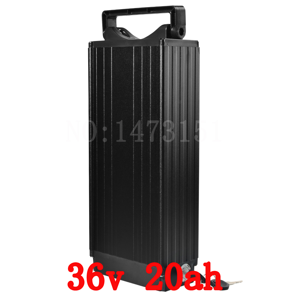 36V 20AH 1000W Rear rack Ebike battery 36V 20AH Scooter battery 36V Lithium battery with Tail light 30A BMS 42V 2A charger free customs duty battery 48v 20ah 1000w 48 v 20ah lithium battery use 3 7v 2500 cell 30a bms with 54 6v 2a charger