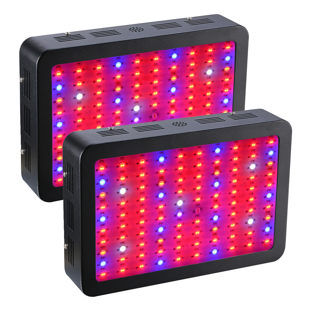 2PCS/lot Led grow light 1000W Double Chips Grow lamp panel Full Spectrum Red/Blue/White/UV/IR For Indoor Plant Flowering Growing full spectrum 600w led grow light double chips red blue white uv ir ac85 265v led plant lamps best for growing and flowering