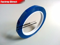 Size 75mm 66Meter One Face Adhesive Isolated Mylar Tape For Capacitors Fasten Blue