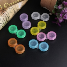 10PCS Colorful Contact Lens L+R Cases Storage Holder Soaking