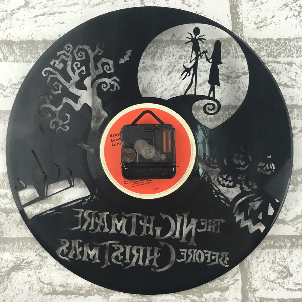 The Nightmare Before Christmas Black Vinyl Record Clock Creative CD ...