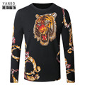 Chinese style angry tiger pattern printing fashion boutique men sweater 2016 Autumn&Winter new arrive knitted sweater men M-4XL
