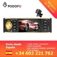 Podofo VEUR 1 din Car Radio 4'' TFT Screen MP3 Car Radio Stereo Bluetooth Remote Control USB FM Autoradio Multimedia Player