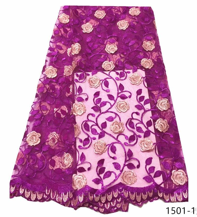Dernière dentelle africaine tissu 2019 haute qualité dentelle fleur garniture français dentelle tissu blanc dentelle tissus pour les fêtes africaines 1501
