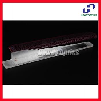 HB16 jakość oftalmiczny poziomy pryzmat Bar 16 dioptrii tanie i dobre opinie Cube Besmic as described Prism Bar Horizontal Acrylic Leather bag Zhejiang China (Mainland)
