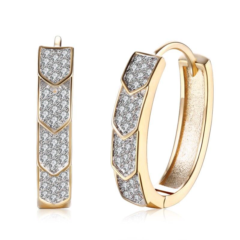 Garilina fine jewelry White Cubic Zirconia Gold Stud earrings for women wedding Wholesale E2220