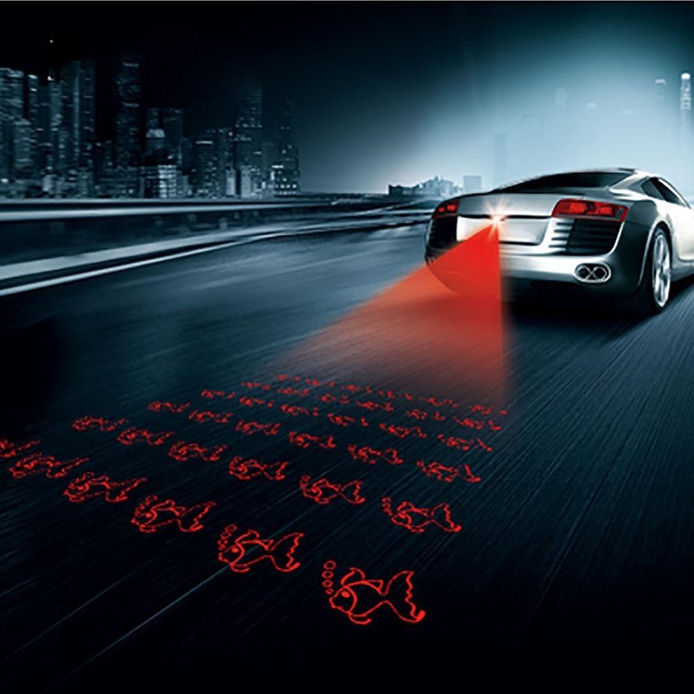 Anti Collision Car Laser Fog Light Rear-end Tail Led Lamp Auto Brake Parking Signal Indicators Rearing Warning Light Car Styling