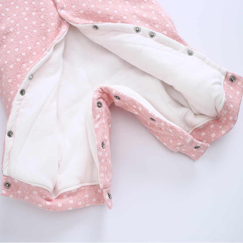 baf5c07f8b0 ... Baby Clothes Baby Girl Romper Infant Jumpsuit Bebes Hooded Warm Cartoon  Bear Costume Winter Overalls Newborn