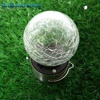 Solarlightsoutdoor Солнечная трещина стеклянный шар лампы украшение дома висит светильники садовые декоративные уличные фонари Солнечный свет