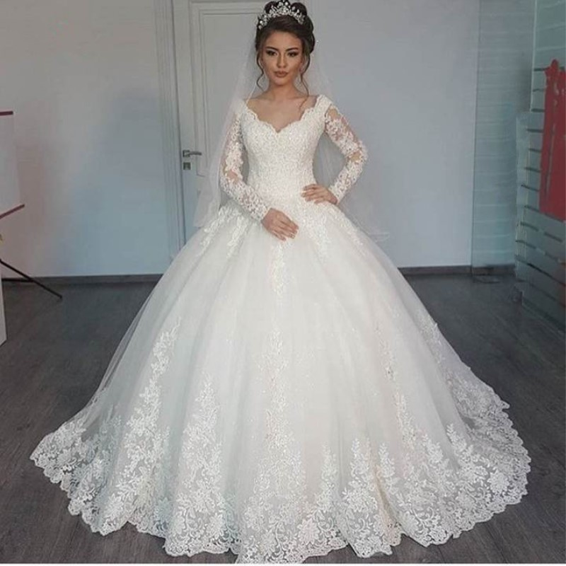 New Arrival Custom Size 2016 New Design Crystal Tulle Lace Beading Ball Gown Wedding Dresses vestido de noiva TZ22