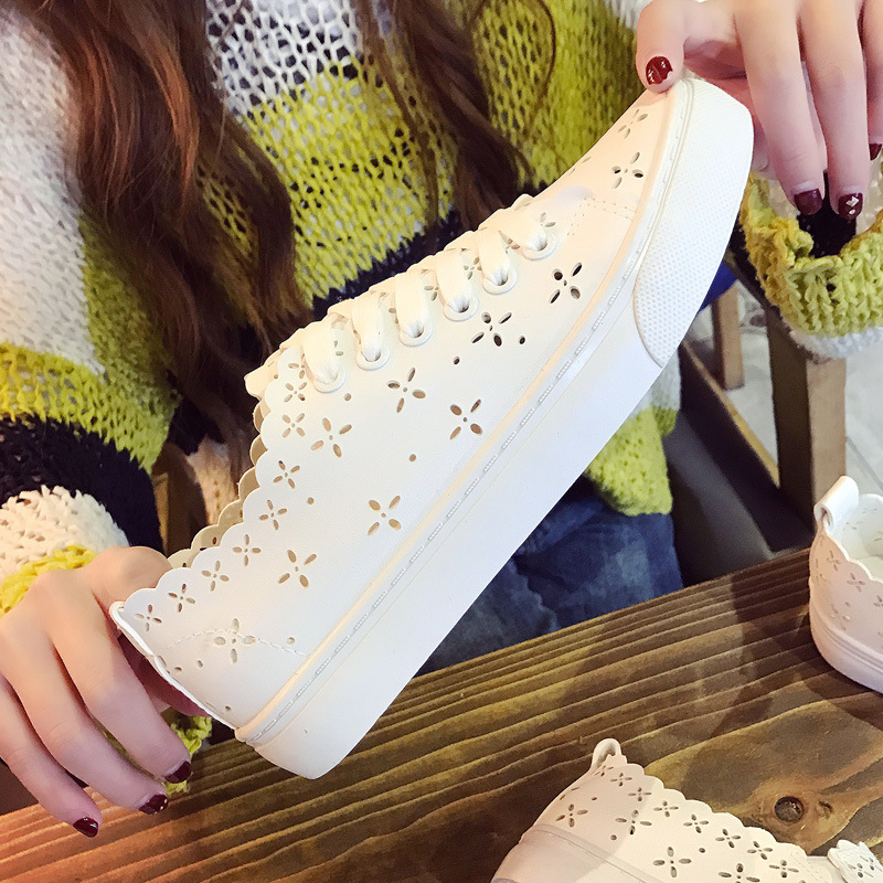 2017 Casual Shoes Breathable White Shoes Leisure Flats Breathable Woman Female Flat Heel Student Girl Shoes Tenis Feminino 5-8 shoes men leather 2017 ms casual shoes low help white black flat leisure fashion female superstar shoes tenis feminino mujer