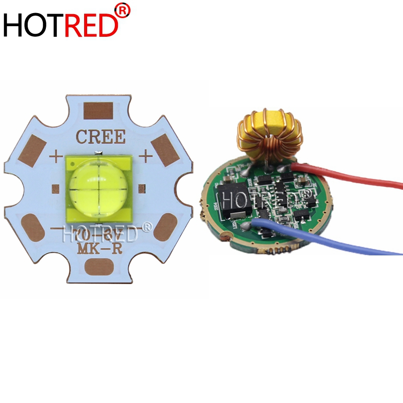 NEW 1 Set 6V ETI 7070 20W White LED With Driver Emitter Diode Instead Of MKR MCE XHP50 Cool White LED With 20MM Copper PCB