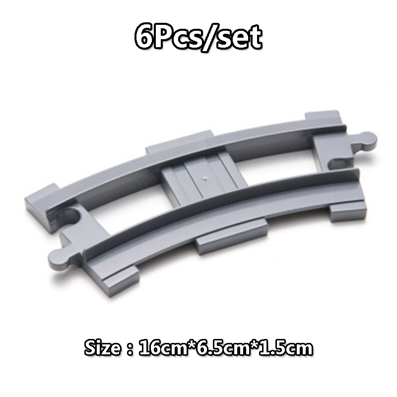 DIY Building Blocks Duploe Train Track Accessories Railway Points Curved Crossover Bridge Parts Brick Toys For Children Kids Gift  (1)