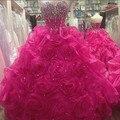 Vestido Quinceanera Rosa Quente Quinceanera Vestidos Vestidos de Baile vestidos de 15 años Debutante Quinceanera Vestidos Doce 16 Vestidos Barato