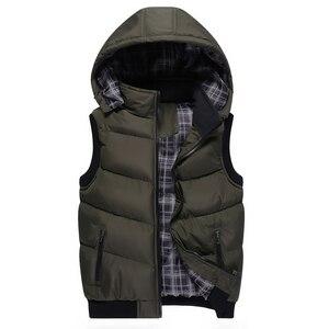 Image 2 - プラスサイズ 5XL メンズ新冬のベストサーマルノースリーブジャケット男性カジュアルスリムフィット秋のベスト男性ブランドチョッキ