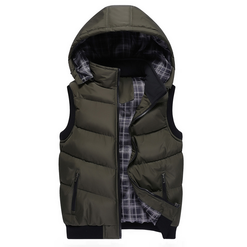 Plus Size 5XL Men's New Winter Vest Thermal Sleeveless Jackets Men Casual Slim Fit Autumn Vests Men Brand Waistcoat