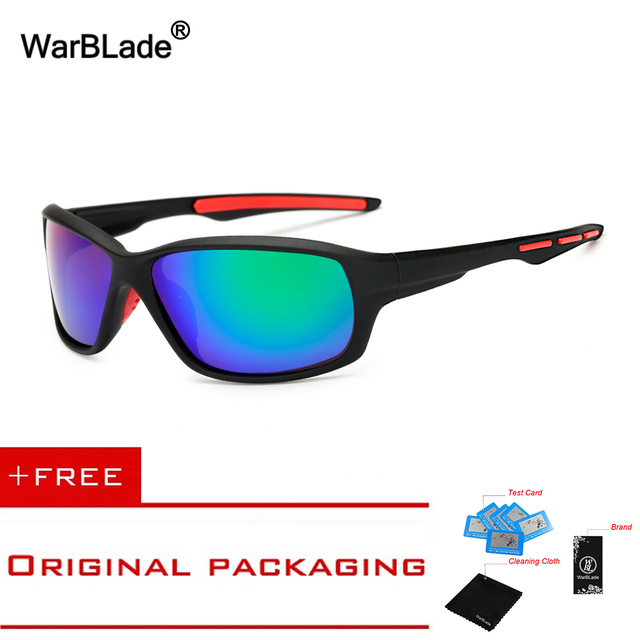 0c4ede8b24d BRAND DESIGN Polarized Sunglasses Driving Sports Style Sun Glasses for Men  Women Vintage Eyewear Accessories UV400 WarBLade