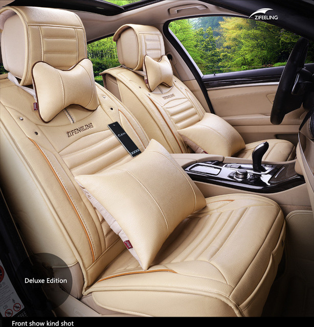Four Seasons Leather Car Seat covers Full Set for General 5 seat car Use VW MG Toyota Mazda Buick Audi FORD CADILLAC  BMW BENZ