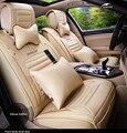 Quatro Estações Do Assento de Carro de Couro cobre um Conjunto Completo para 5 assento Geral o Uso do carro VW MG Toyota Mazda Buick CADILLAC BMW BENZ Audi FORD