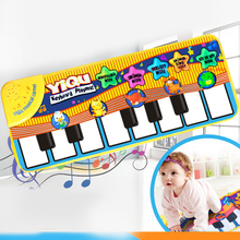 Keyboard musical toys musik teppich mat blanket tier elektronische touch play tastatur infant spielen typ musikinstrument