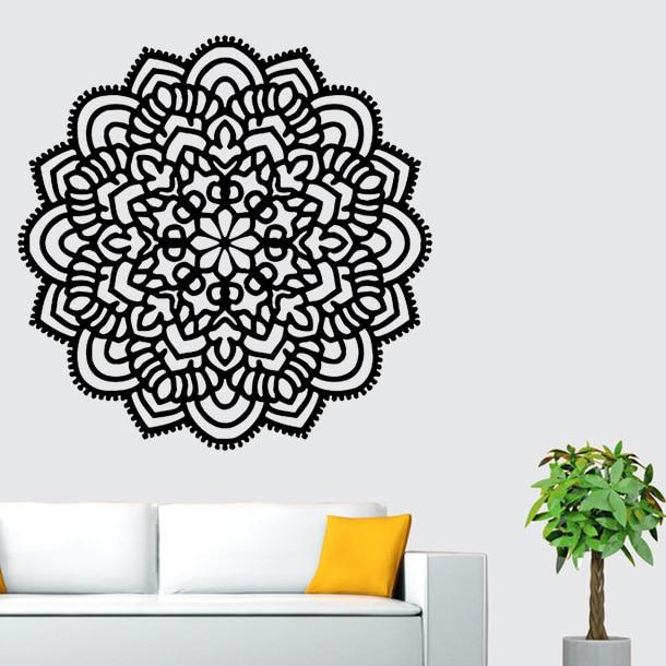 high quality yoga wall stickers mandala indian round pattern symbol