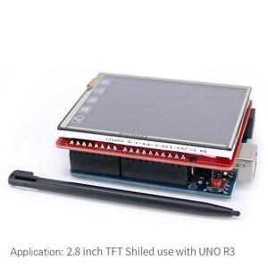 Image 5 - 2,8 дюймовый TFT ЖК экран + плата UNO R3 с tf картой/сенсорной ручкой/usb кабелем для Arduino UNO / Mega2560 / Leonardo