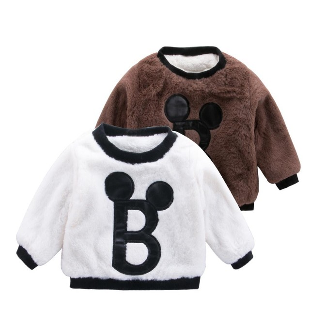 1ee83f7d877 MUQGEW Children Boy Girls clothes 2019 Autumn Winter Jacket For Kids  Cartoon Letter Thick Warm Tops Sweatshirt Pullover Clothes