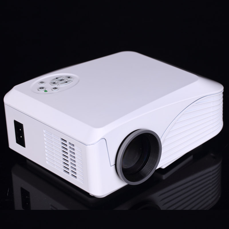 Build in wifi android 4 4 portable led projector home for Best small hd projector
