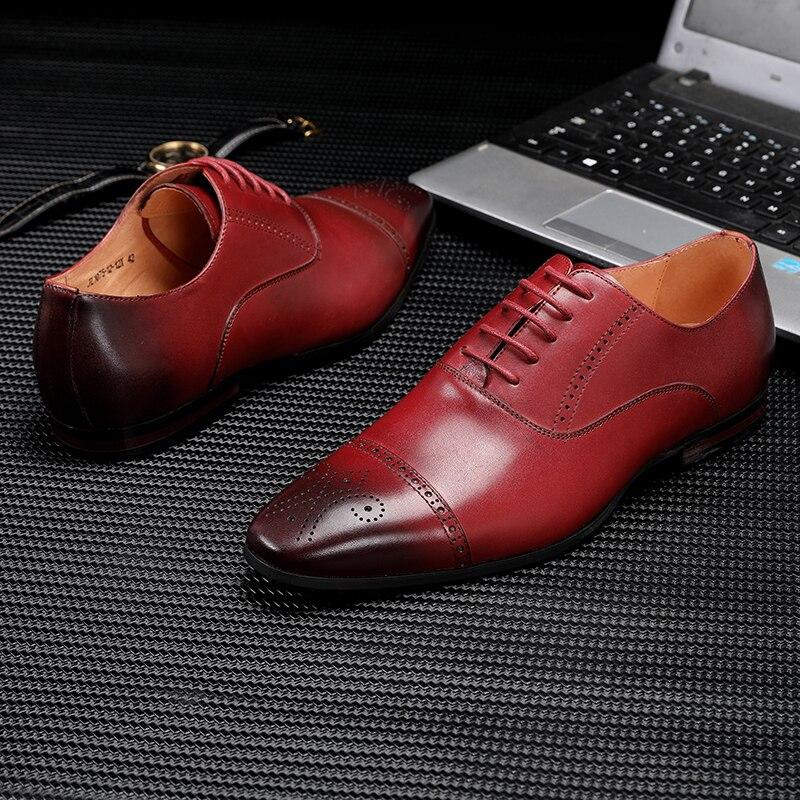 Chaussures formelles pour hommes chaussures en cuir oxford pour hommes habillement mariage chaussures de bureau à lacets hommes zapatos de hombre-in Chaussures d'affaires from Chaussures    2