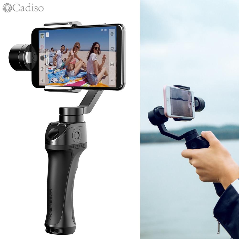 Cadiso Freevision VILTA 3-Assi Smartphone Handheld Video Stabilizzatore Giunto Cardanico per il iphone XS Max XR X 8 Più di 7 6 SE Samsung