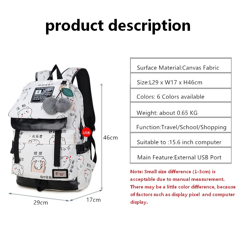 Women Backpacks for Teenage Girls Mochila Trend Schoolbag female Waterproof Anti theft Laptop Backpack bagpack Female student in Backpacks from Luggage Bags