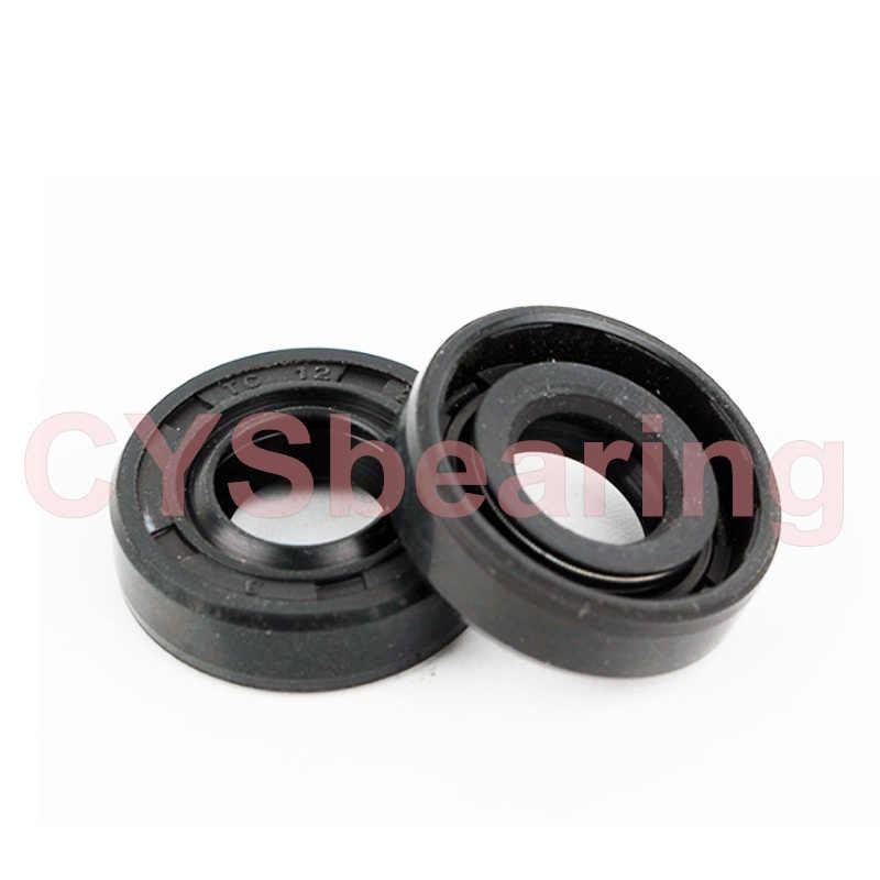 2 pc TC Oil Seal Preto Nitrilo Junta de Vedação Do Eixo Radial de Aço Anel Escombros 10x17x5/ 10x18x7/10x19x5/10x19x7-26x8-x20x5-25x7mm