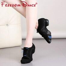 лучшая цена 2019 Women's Ballroom Dance Shoes Teaching Shoe Oxford Cloth 4cm Heel Soft Breathable Girls Tango Modern Latin Shoe Sneakers