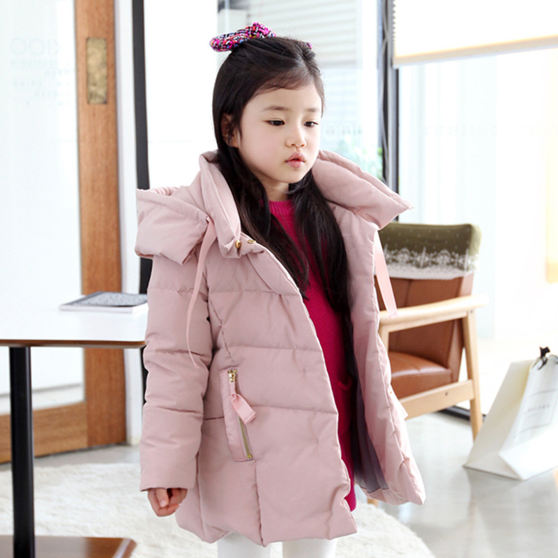 2016 winter thick Children long sections duck down jacket kids girls duck down jacket outwear coat
