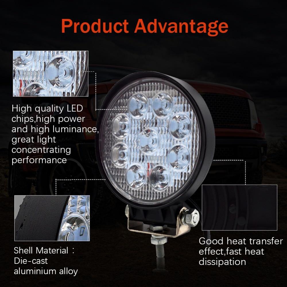 Safego 2x 27W vodila delovna luč terenska svetilka 12V LED traktor - Avtomobilske luči - Fotografija 2