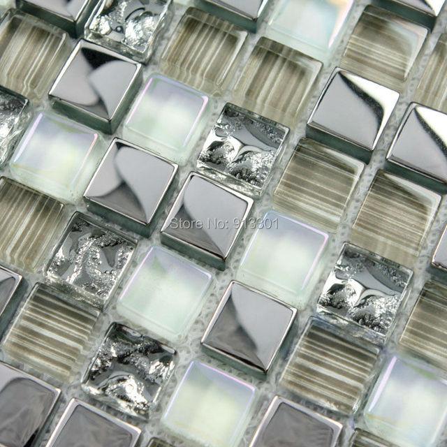 Mosaico di cristallo piastrelle per pareti del bagno cucina ...