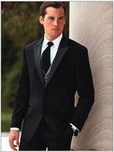 New Arrival Groom Tuxedo Groomsmen Black Wedding/Dinner/Evening Suits Best Man Bridegroom (Jacket+Pants+Tie+Vest) B56