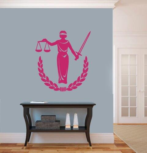Стены виниловая наклейка Стикеры закон и справедливость женщина Mantel Дизайн Декор 22inx24in