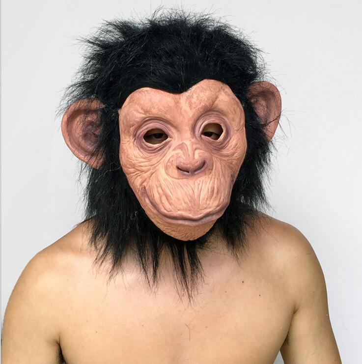 할로윈 무서운 가면 머리 할로윈 / 크리스마스 의상 극장 무효 특설 라텍스 원숭이 무서운 마스크 가장 무서운 고릴라 가면