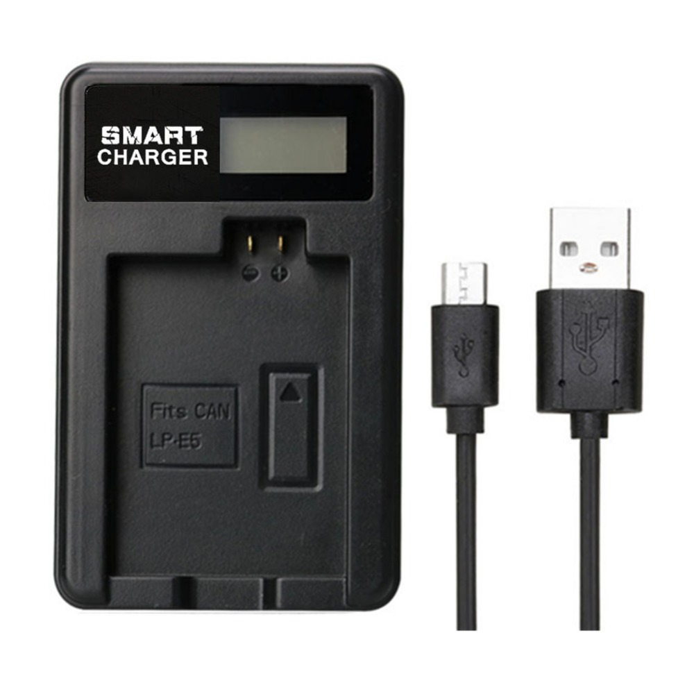 Chargers Accessories & Parts Lp-e5 Lcd Display Dual Port Camera Usb Battery Charger Smart Charging Stand For Canon Eos 1000d 500d Eos Kiss