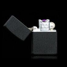 Электронная Сигарета легче Ветрозащитный ультра-тонкий Металлический USB Аккумуляторная Беспламенного импульса Электрической Дуги Сигары Прикуривателя
