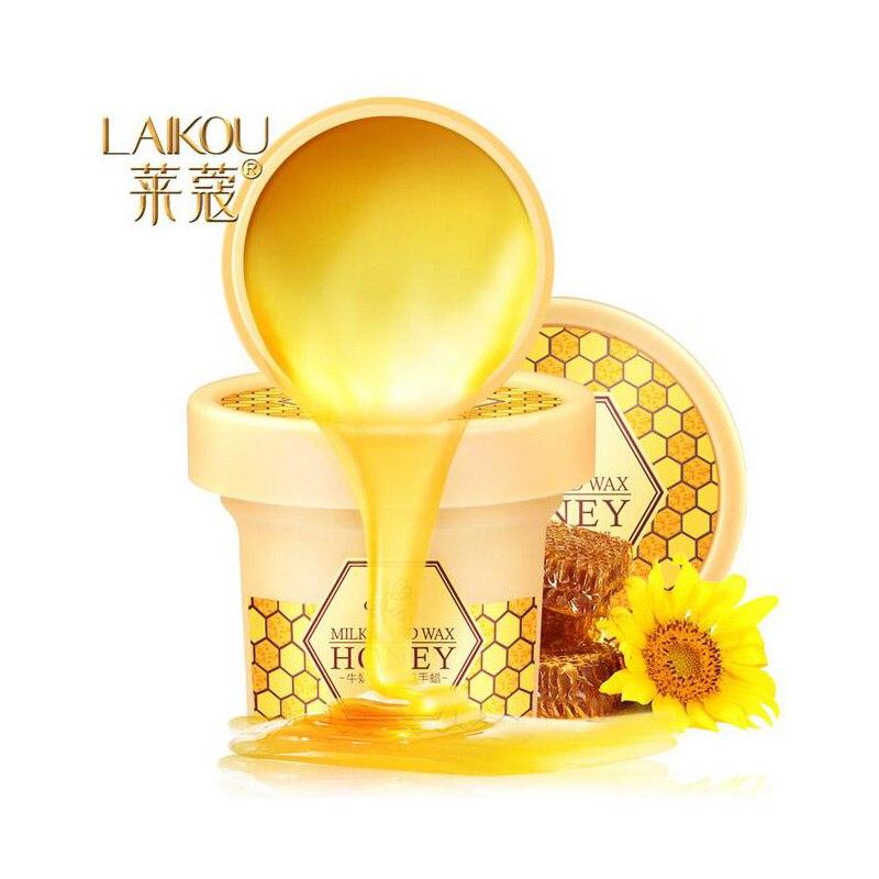 120g Hand Care Milk Honey Hand Wax Paraffin Bath Hand Mask Whitening Exfoliating Moisturizing Anti Wrinkles Hand Care Product